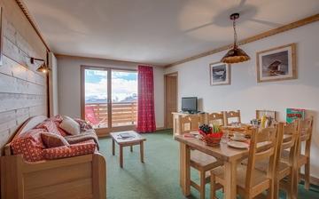 Eine Ferienwohnung in der Residenz Sun Valley in La Plagne Soleil. Skiurlaub mit Unterkunft direkt an den Pisten.