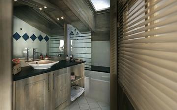 Komfort der Residenz Le Telemark in Tignes. Badezimmer einer Ferienwohnung im Le Telemark.