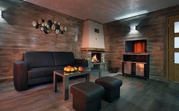 Chalet Hermine Ferienwohnungen in Val Thorens - Wohnzimmer in einer Ferienwohnung der Residenz Chalet Hermine