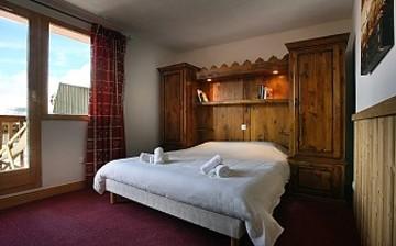 Ferienwohnungen in Val Thorens - Plein Sud - Schlafzimmer mit französischem Doppelbett