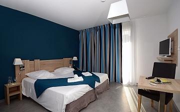 Sommerurlaub in Südfrankreich: Ein Schlafzimmer der Residenz Nakara in Cap d'Agde.