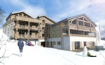 Ferienwohnung Chalet Nuance in Alpe d'Huez 1450 · Aussenansicht
