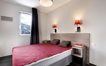 Schlafen wie ein Murmeltier in Ihrer Ferienwohnung Le Village de Praroustan, in Pra Loup, Frankreich.
