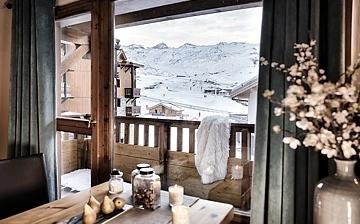 Les Montagnettes Soleil 2 in Val Thorens, Trois Vallees, Frankreich.  Wohnzimmer