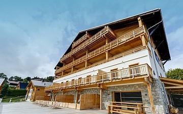 Ferienwohnungen & Chalets · Les Fermes du Mont Blanc · Combloux · Residenz Aussenansicht