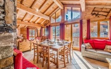 Chalet Gypaete **** - Komfort Ferienwohnungen in Tignes -  6-Zi.-Whg.10P - Wohnzimmer