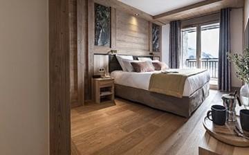 Ferienwohnungen La Rosiere - Residenz Alpen Lodge - Schlafzimmer