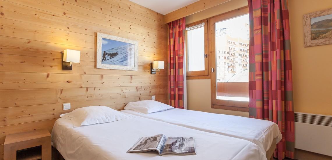 Unterkünfte • Ferienwohnung Aconit • Les Menuires - Les 3 Vallees / Trois Vallees •  Schlafzimmer