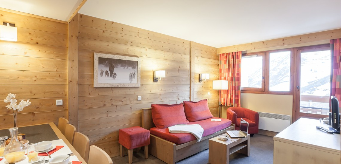 Unterkünfte • Ferienwohnung Aconit • Les Menuires - Les 3 Vallees / Trois Vallees •  Wohnen / Essen