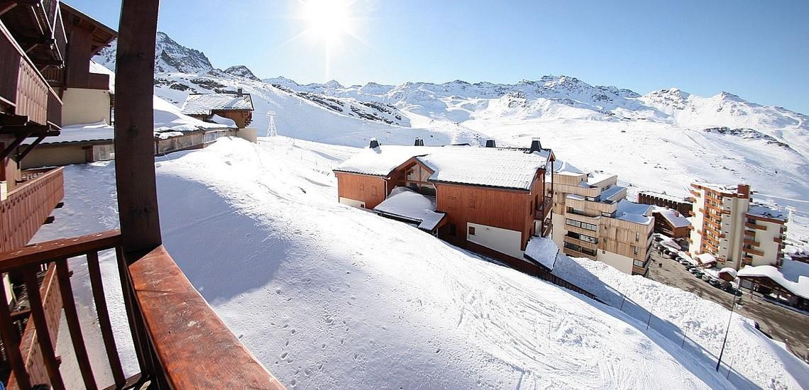 Unterkünfte Val Thorens • Ferienwohnung Chalet Hermine • Val Thorens - Les 3 Vallees / Trois Vallees • Blick von einem Balkon der Residenz Chalet Hermine