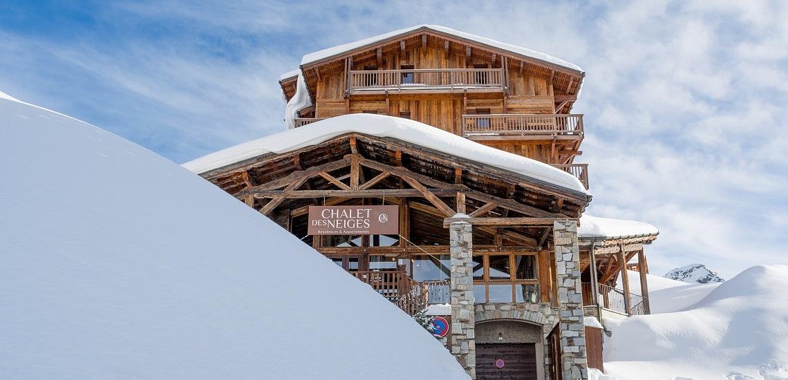 Unterkünfte Val Thorens • Ferienwohnung Chalet Hermine • Val Thorens - Les 3 Vallees / Trois Vallees • Aussenansicht der Residenz Chalet Hermine