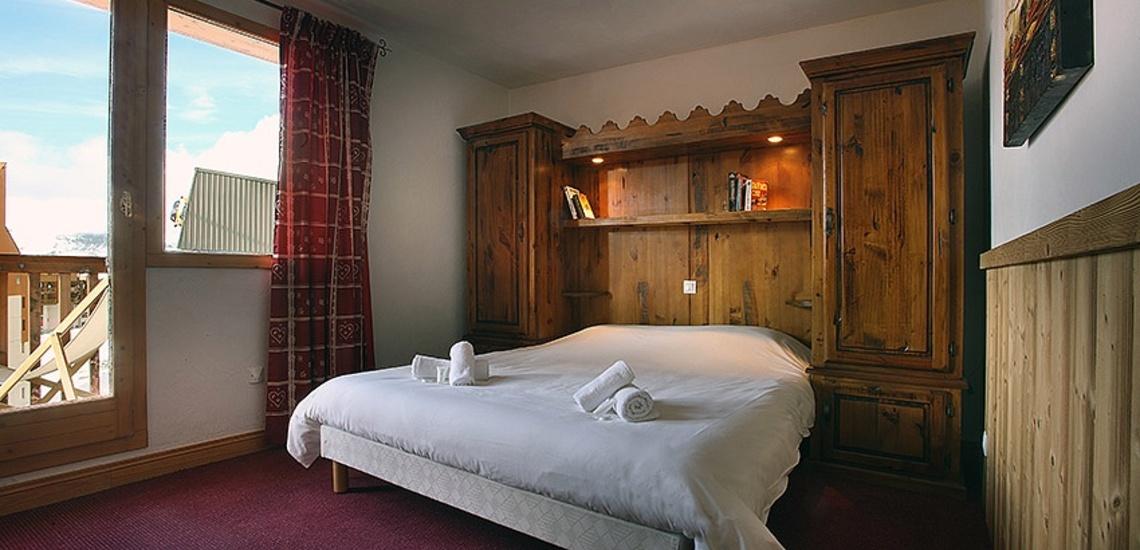 Unterkünfte Val Thorens • Ferienwohnungen Plein Sud • Val Thorens - Les 3 Vallees / Trois Vallees • Schlafzimmer mit französischem Doppelbett
