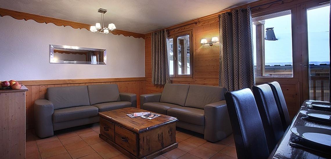 Unterkünfte Val Thorens • Ferienwohnungen Plein Sud • Val Thorens - Les 3 Vallees / Trois Vallees • Wohn-/Essbereich einer Ferienwohnung