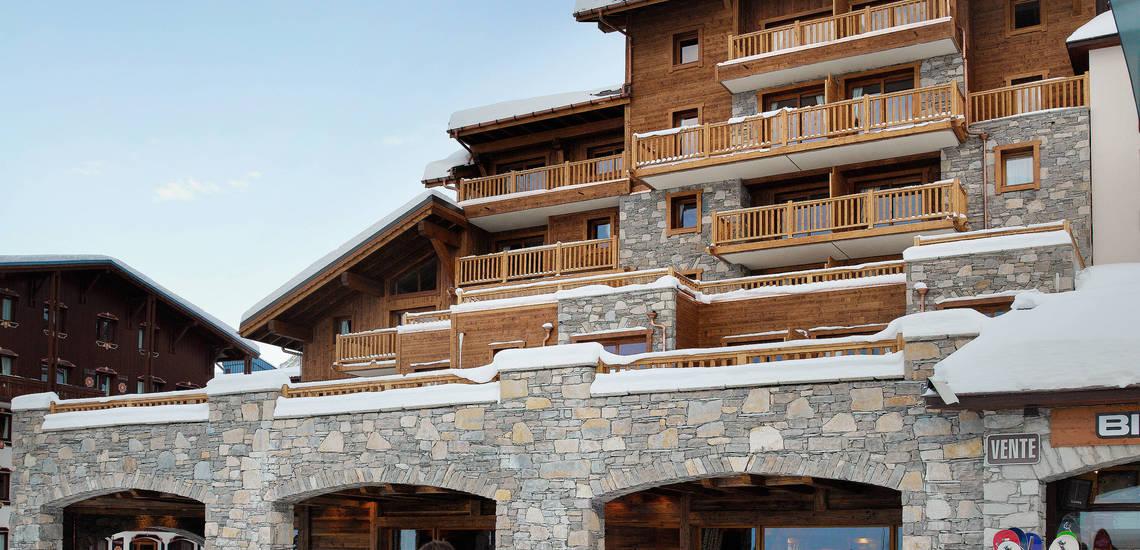 Tignes · Ferienwohnungen La Ferme Du Val Claret · Teilansicht Ihrer Residenz in Tignes Val Claret