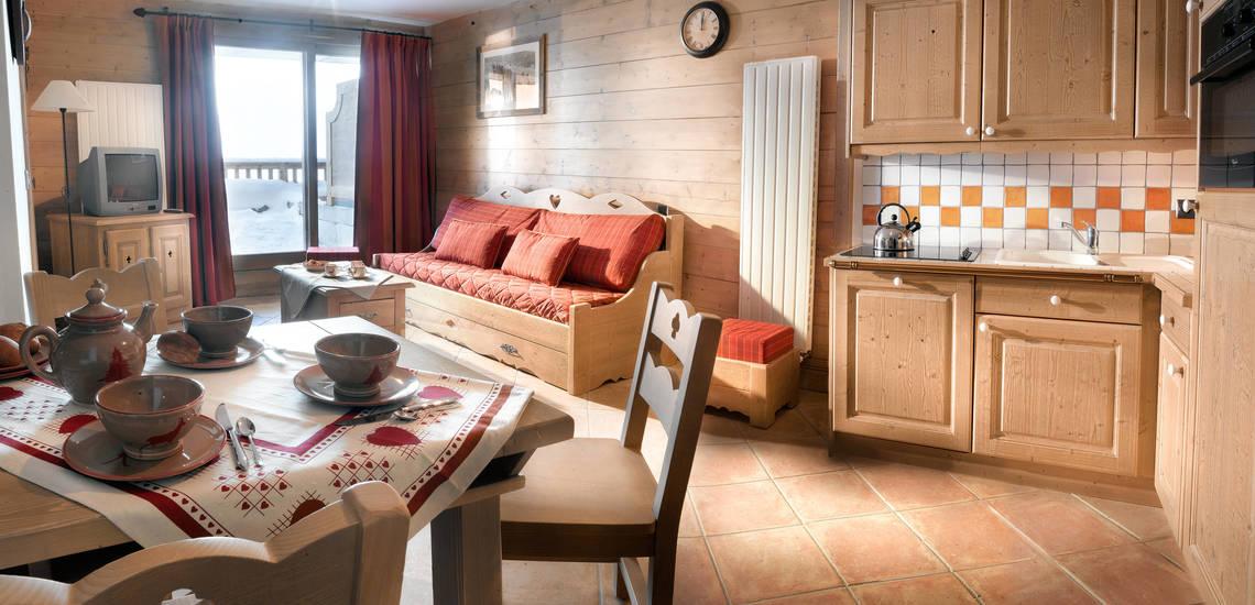 Tignes · Ferienwohnungen La Ferme Du Val Claret · Wohnzimmer