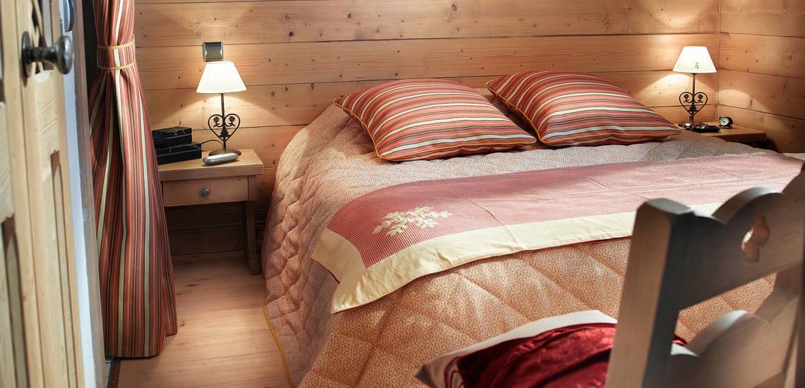 Tignes · Ferienwohnungen La Ferme Du Val Claret · Schlafzimmer mit französischem Doppelbett