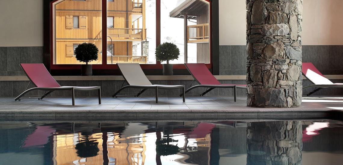 Pool · Le Telemark · Tignes · Skiurlaub in den französischen Alpen · Komfort-Unterkünfte direkt an der Piste
