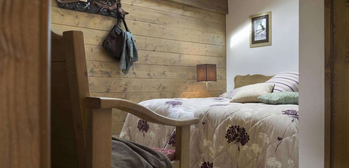 Schlafzimmer einer Ferienwohnung im Le Telemark · Tignes · Skiurlaub in den französischen Alpen · Komfort-Unterkünfte direkt an der Piste