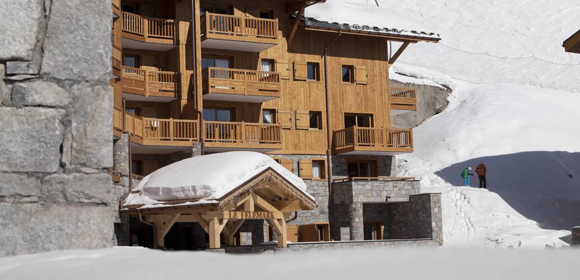 Wohnen direkt an der Piste · Le Telemark · Tignes · Skiurlaub in den französischen Alpen · Komfort-Unterkünfte direkt an der Piste