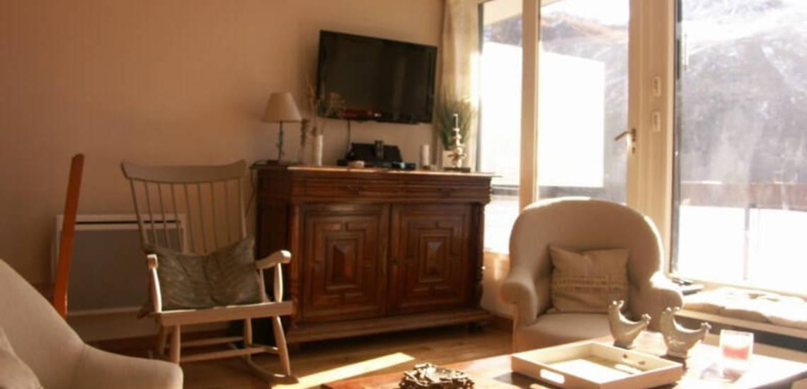 Tignes · Ferienwohnungen · Beispiel TIG-W153 · Wohnraum