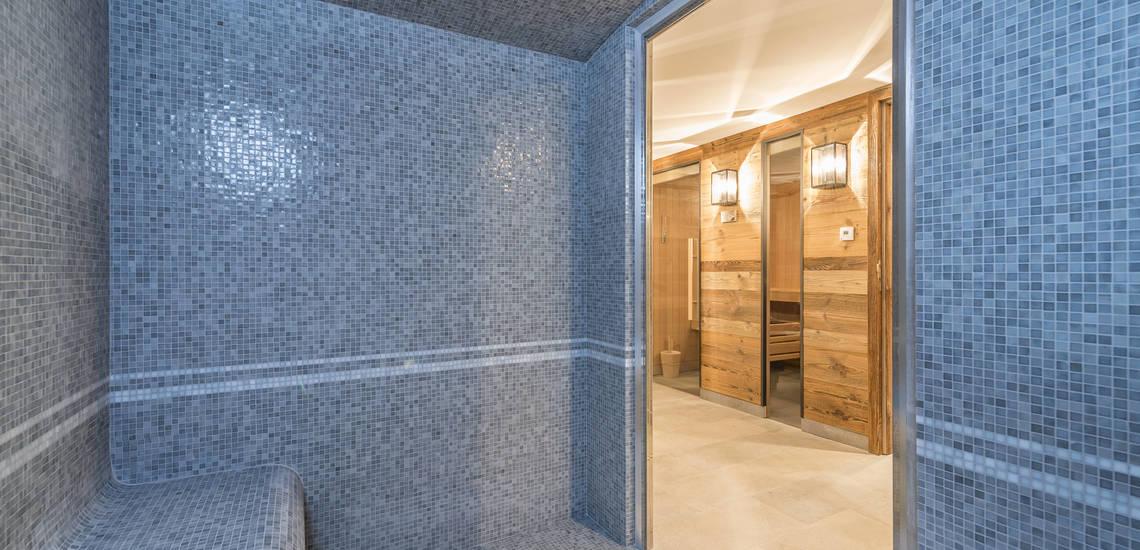 Eine Sauna der Residenz Les Chalets du Jardin Alpin in Val d'Isere