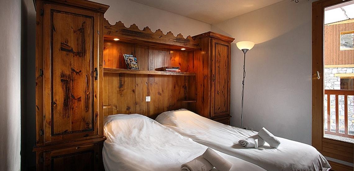 Unterkünfte Val Thorens • Ferienwohnungen Plein Sud • Val Thorens - Les 3 Vallees / Trois Vallees • Schlafzimmer mit 2 Einzelbetten