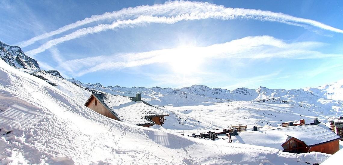 Unterkünfte • Ferienwohnung Chalet Hermine • Val Thorens - Les 3 Vallees / Trois Vallees •  Panorama der Residenz Chalet Hermine