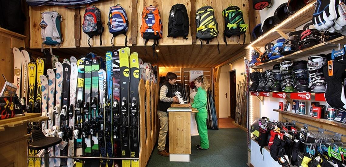 Unterkünfte Val Thorens • Ferienwohnung Chalet Hermine • Val Thorens - Les 3 Vallees / Trois Vallees • Sportgeschäft