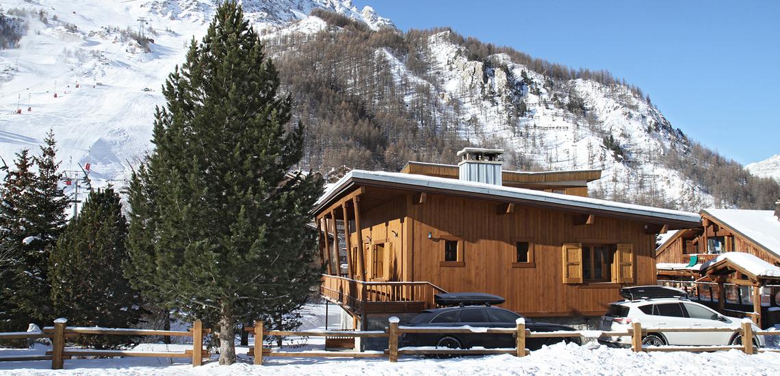 Chalet Le Cabri in Val d'Isere. Chalet Aussenansicht