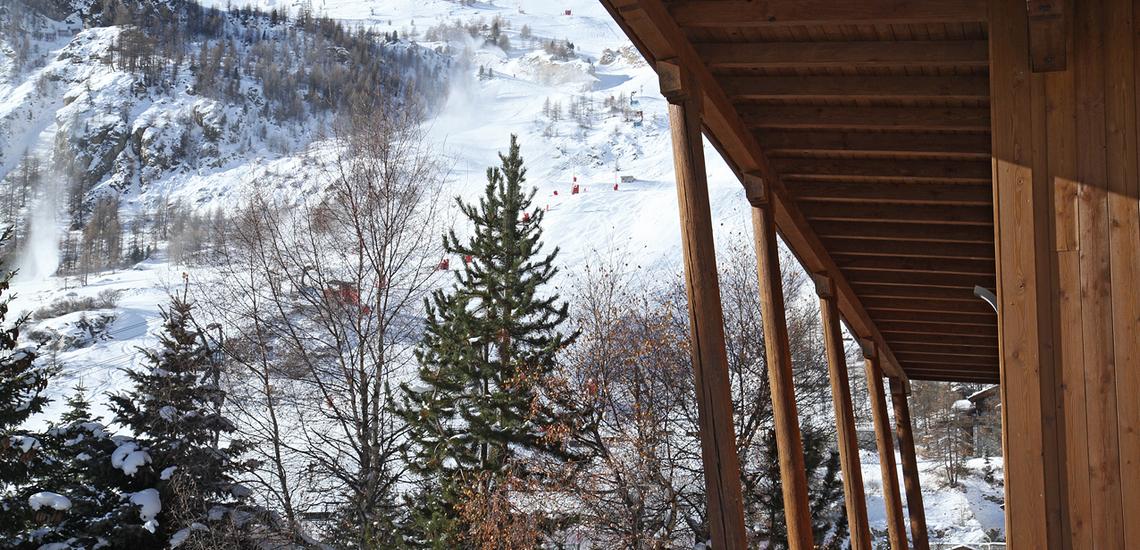 Val d'Isere · Chalet Le Cabri ·  Balkon.