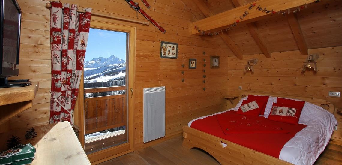 Chalet Le Jardin d'Hiver · Ihr Chalet in La Toussuire / Skigebiet Les Sybelles · Schlafzimmer