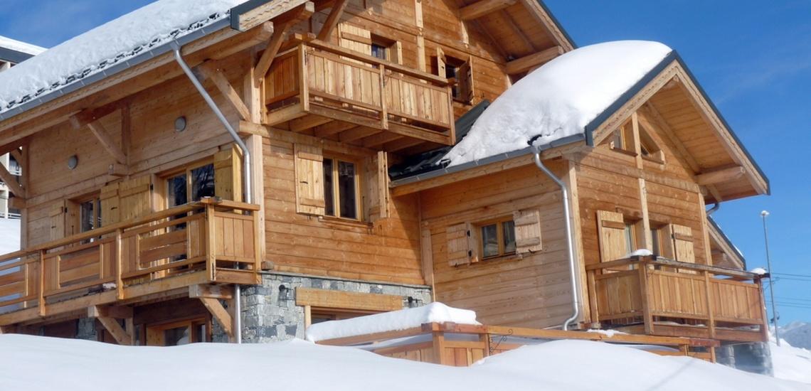 Chalet Le Jardin d'Hiver · Ihr Chalet in La Toussuire / Skigebiet Les Sybelles · Chalet im Schnee