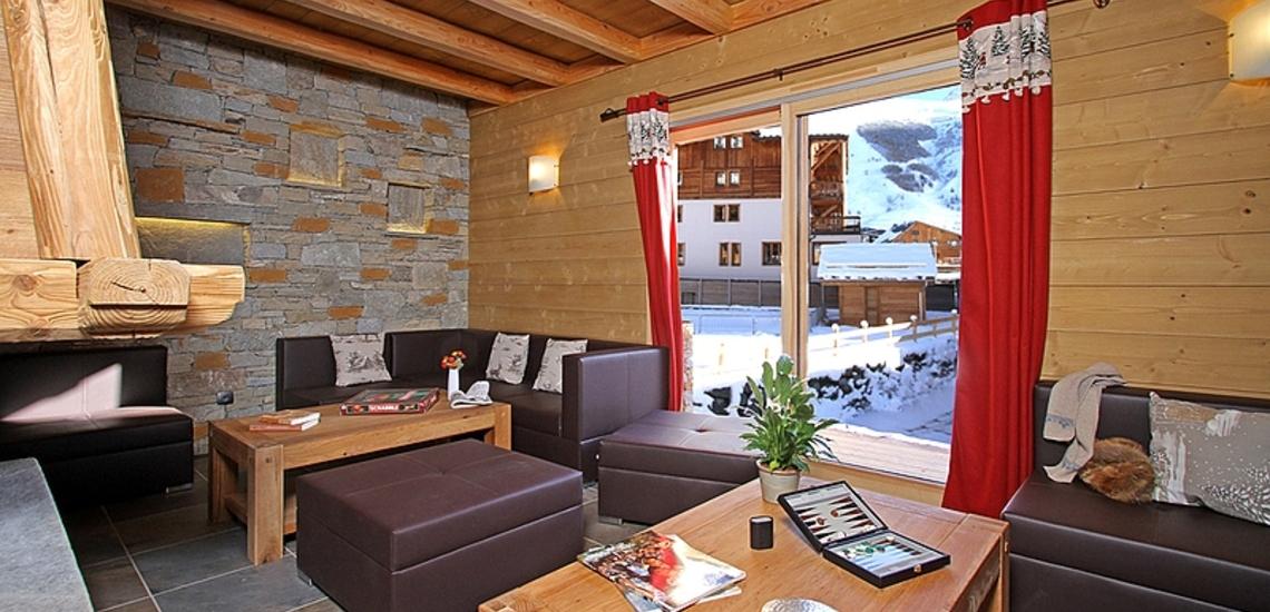 Chalet Prestige Lodge in Les 2 Alpes / Deux Alpes · Wohnzimmer