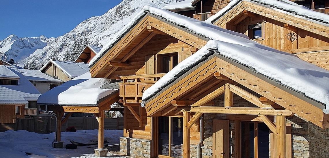 Chalet Prestige Lodge in Les 2 Alpes / Deux Alpes · Teilansicht des Chalets