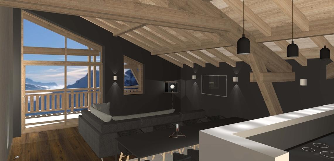 Unterkünfte · Ferienwohnung Chalet Nuance in Alpe d'Huez 1450 · Wohnungsbeispiel