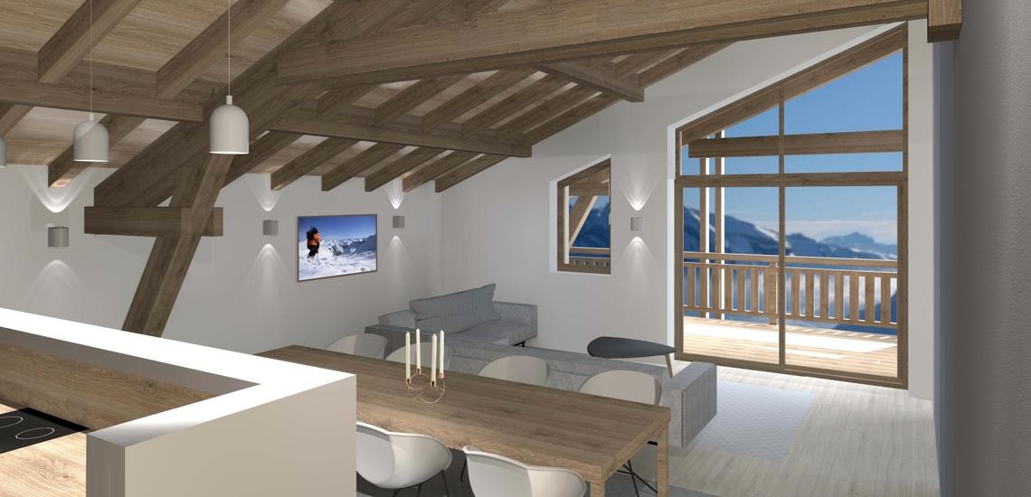 Unterkünfte · Ferienwohnung Chalet Nuance in Alpe d'Huez 1450 · Unterkünfte · Ferienwohnung Chalet Nuance in Alpe d'Huez 1450 · Ferienwohnung mit Dachschräge