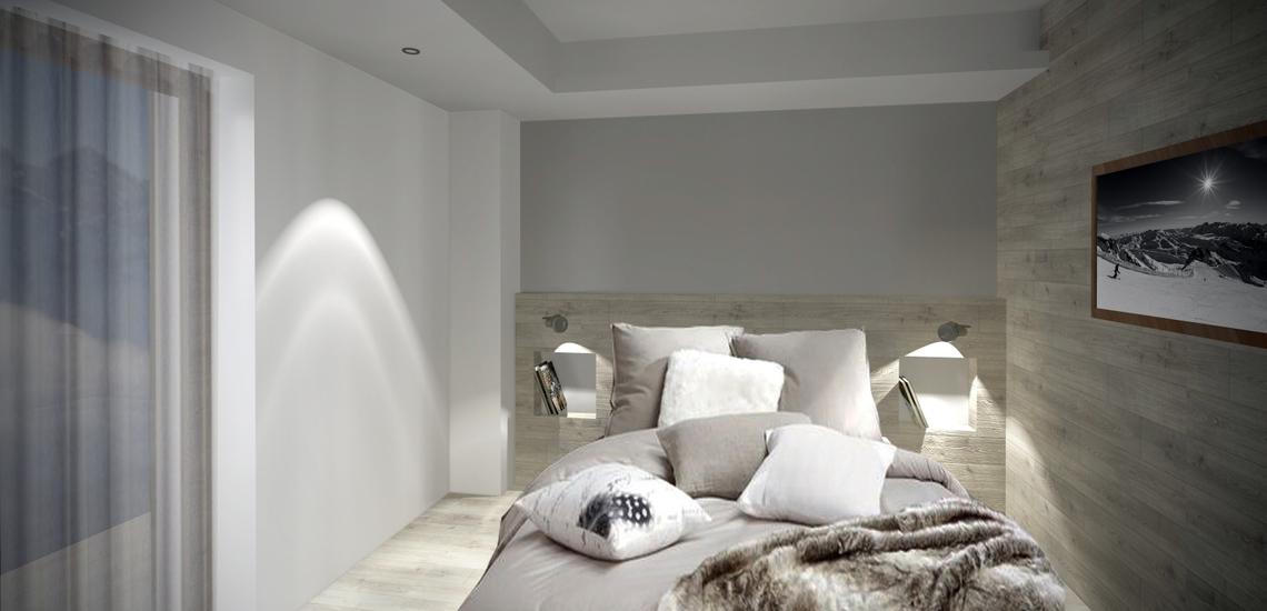Unterkünfte · Ferienwohnung Chalet Nuance in Alpe d'Huez 1450 · Schlafzimmer