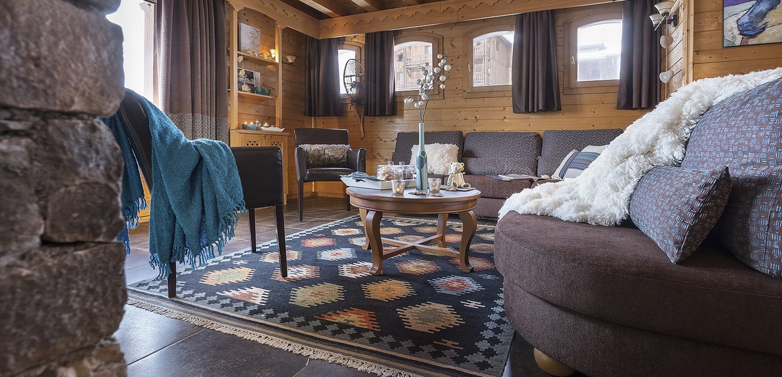 Residenz Les Montagnettes - Lombarde in Val Thorens, Wohnzimmer