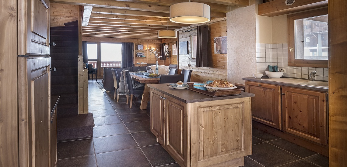 Residenz Les Montagnettes - Lombarde in Val Thorens, Küche