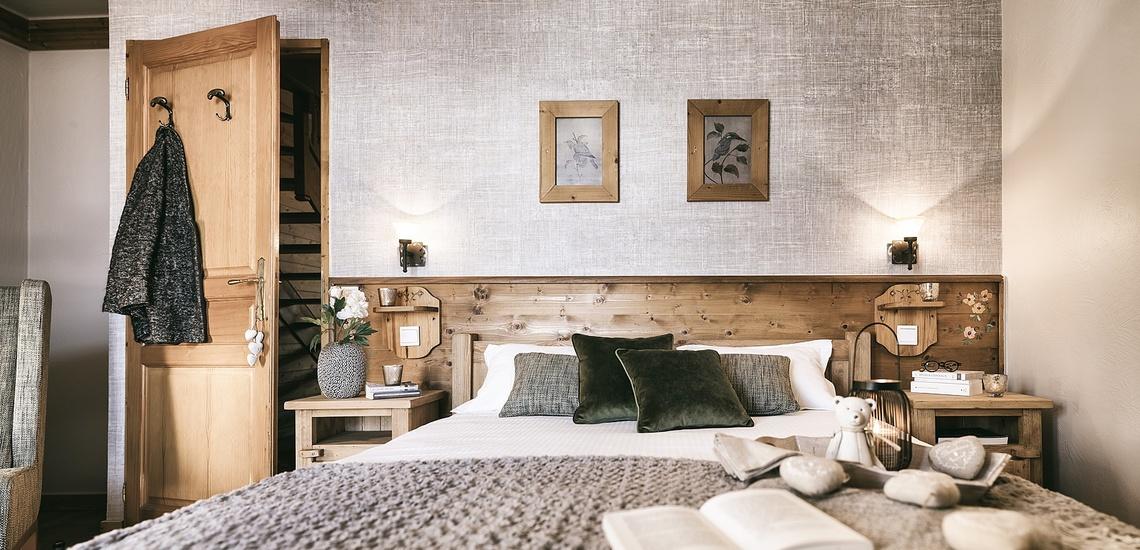 Les Montagnettes Soleil 1, Val Thorens, Trois Vallees.  Schlafzimmer mit französischem Doppelbett