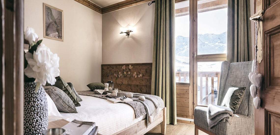 Les Montagnettes Soleil 1, Val Thorens, Trois Vallees.  Schlafzimmer