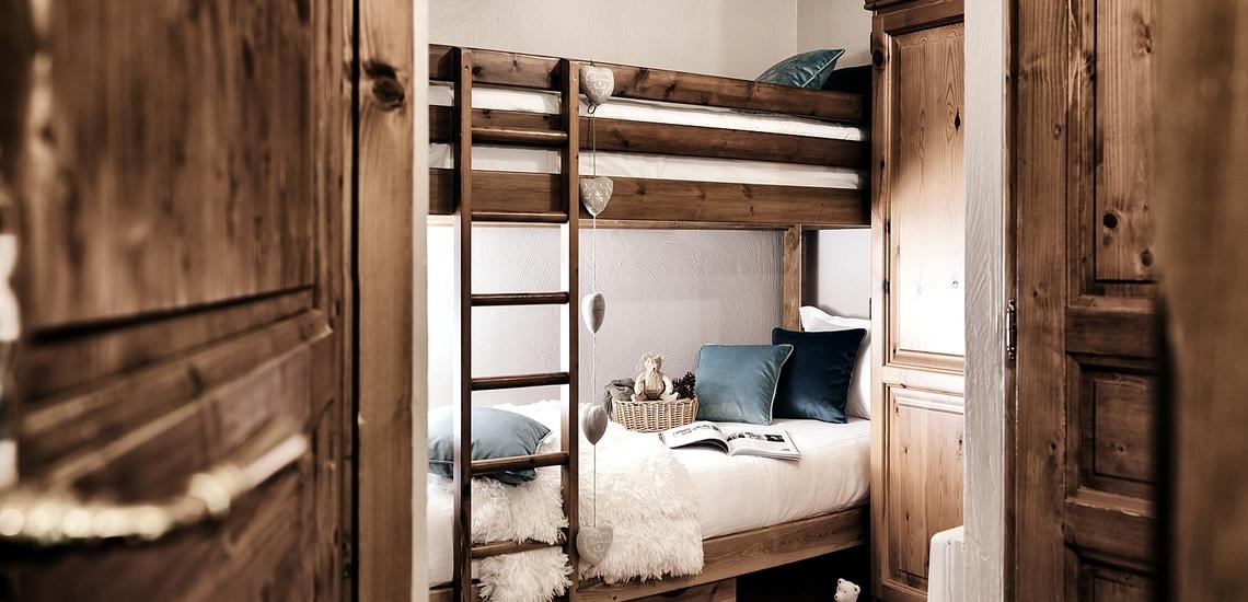 Les Montagnettes Soleil 2 in Val Thorens (Les 3  Vallees, Frankreich),  Schlafzimmer mit Etagenbett