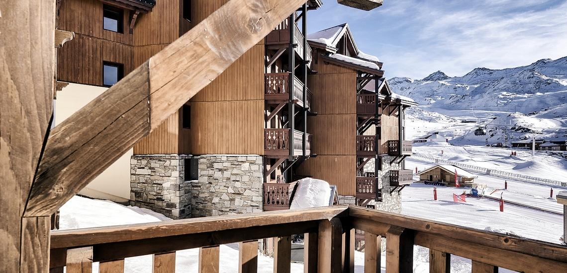 Les Montagnettes Soleil 2 in Val Thorens (Les 3  Vallees, Frankreich),  Balkon