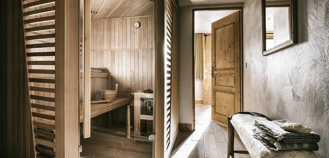 Les Montagnettes Soleil 1, Val Thorens, Trois Vallees.  Sauna