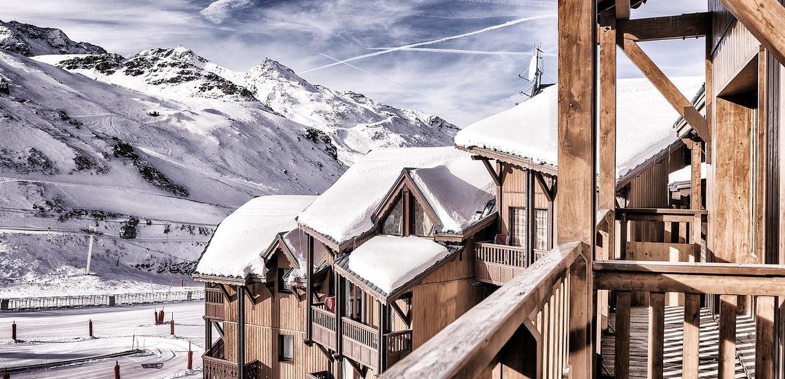 Les Montagnettes Soleil 2 in Val Thorens (Les 3  Vallees, Frankreich),  Ausblick