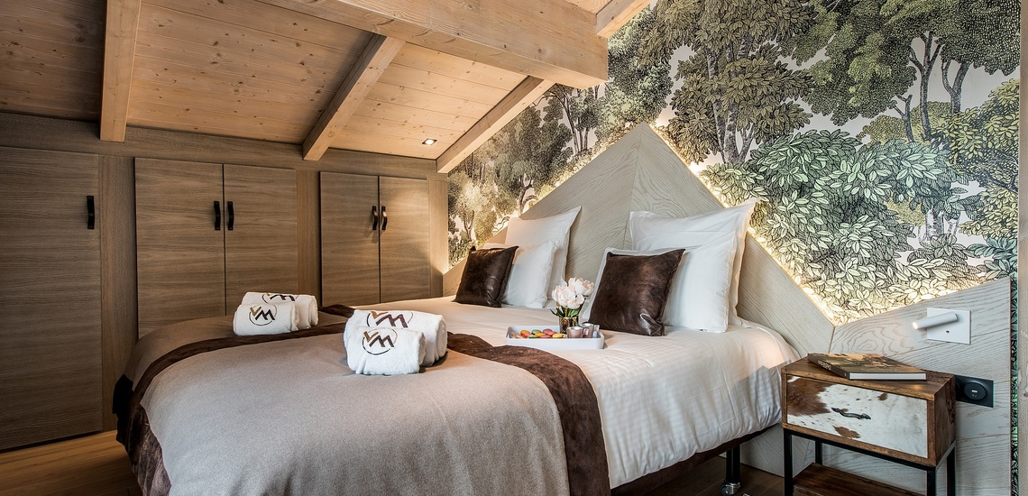 Residenz Chalet Skadi, im Skigebiet Espace Killy, Val d'Isère (1850 m), Schlafzimmer