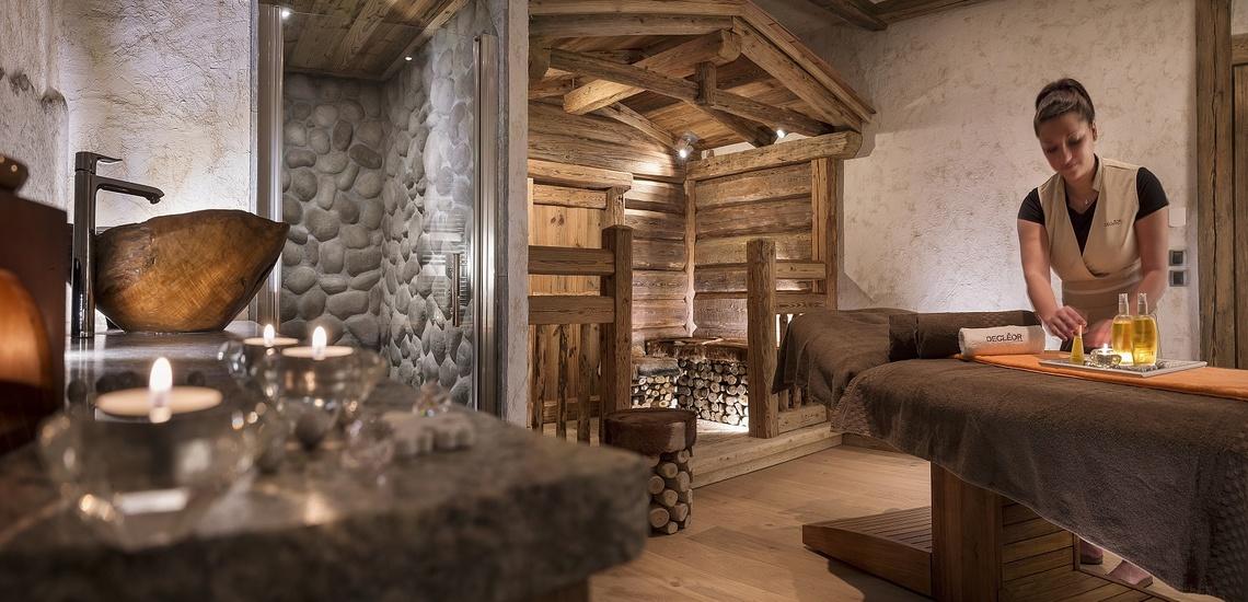 Lassen Sie sich verwöhnen. Sauna und Massagen im Panorama Vars 2000 direkt in Vars - Les Claux, Frankreich.