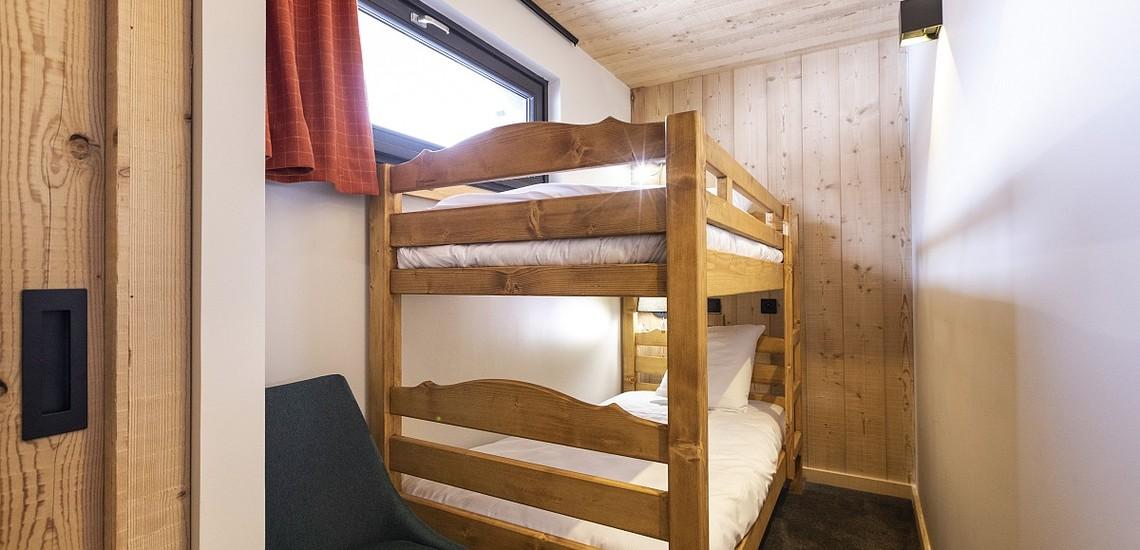 Alpe d'Huez Chalet - Les Chalets du Daria, Schlafzimmer mit Etagenbett - Skireisen / Skiurlaub in Alpe d Huez