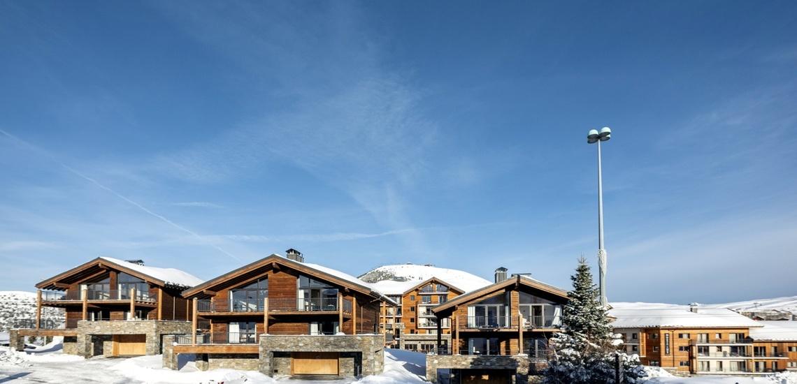 Alpe d'Huez Chalet - Les Chalets du Daria, Aussenansicht - Skireisen / Skiurlaub in Alpe d Huez