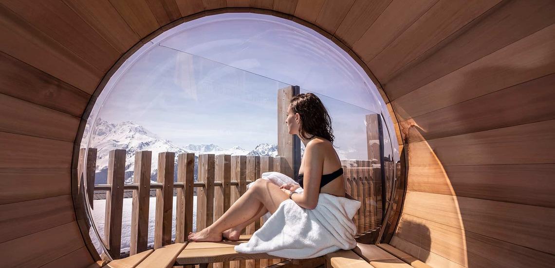 Entspannen im Alparena Hotel & Spa, Unterkünfte in La Rosiere, Skigebiet Espace San Bernardo, Skireisen/Skiurlaub in Frankreich, französische Alpen.